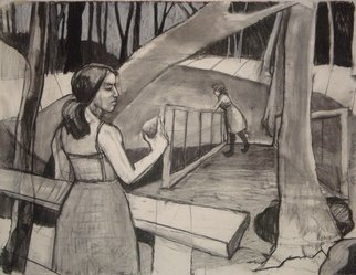 Tina Browder; You Had This, 2011, Original Drawing Charcoal, 50 x 38 inches.