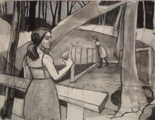 Artist: Tina Browder's, title: You Had This, 2011, Drawing Charcoal