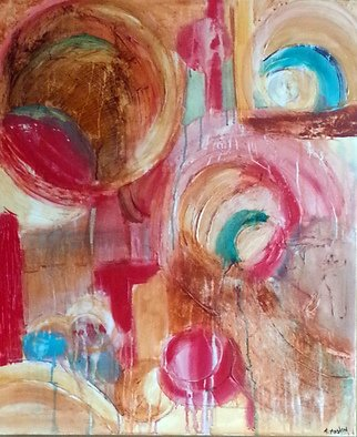 Tina Mastin; At The Party, 2015, Original Painting Acrylic, 2 x 3 feet.