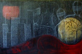 Sepideh Majd; Randomthoughts Part 4, 2003, Original Mixed Media, 36 x 24 inches. Artwork description: 241 acrylic and charcoal on canvas....