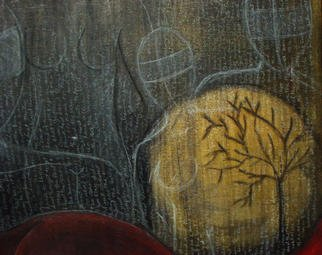 Sepideh Majd; Randomthoughts Part 4 Detail, 2003, Original Mixed Media, 36 x 24 inches. Artwork description: 241 acrylic and charcoal on canvas...