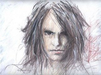 Santiago Londono; Criss Angel, 2006, Original Drawing Pencil, 20 x 15 inches.