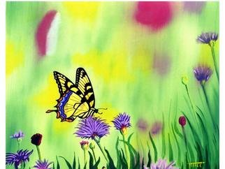 Robert Tittle; Tiger Swallowtail, 2000, Original Painting Oil, 20 x 16 inches. Artwork description: 241   Acrylic Paintings/ Butterflies/ Art by Tittle/ Tiger Swallowtail    ...