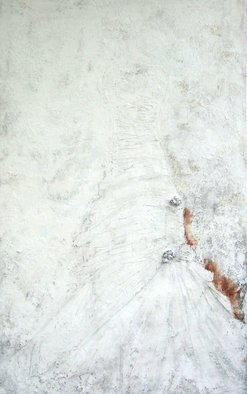 Tom Kelly; Under The Withering White..., 2013, Original Painting Acrylic, 40 x 64 inches. Artwork description: 241  acrylic, marble dust, fake flowers and charcoal on canvas                                      ...