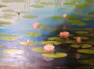 Tatyana Leksikova; Water Lilies, 2011, Original Painting Acrylic, 40 x 30 inches. Artwork description: 241                                  Flowers Landscape, Tatyana Leksikova, Oil on Canvas, Painting,   www. artbytatyana. com,  Toronto, Mississauga,Art for sale, paintings, art, gallery, buy, original, Modern, Abstract, FOR SALE, Floral, Fine Art, Decorative, Acrylic, online, artists, Studio, expressionism, impressionism, contemporary, realism, cityscape,                                   ...