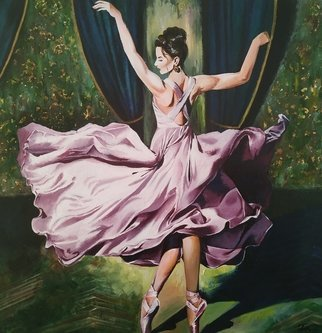 Krisztina T.Molnár; Ballet, 2019, Original Painting Acrylic, 98 x 100 cm. Artwork description: 241 Dance is the poetry of the arms and legs, the hidden language of the soul.  When you watch the dance you hear the word of your heart. ...