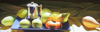 Tony Masero; Coffee and Lemons, 2006, Original Painting Oil, 47 x 16 inches.