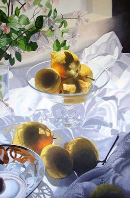 Tony Masero; Freshly Picked Lemons, 2006, Original Painting Oil, 24 x 36 inches.
