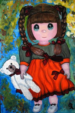 Duta Razvan; Rosie And White Teddy Ori..., 2011, Original Painting Oil, 24 x 15 inches. Artwork description: 241        ORIGINAL OIL PAINTING ON CANVAS        ...