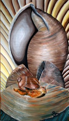 Duta Razvan; SNAILS Original Oil Paint..., 2011, Original Painting Oil, 27 x 15 inches. Artwork description: 241  ORIGINAL OIL PAINTING ON CANVAS  ...