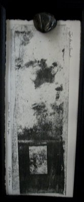 Tracey Datsi Pennell; Eyes Open, 2010, Original Printmaking Monoprint, 14 x 7 inches.