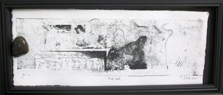 Tracey Datsi Pennell; Ink Well, 2010, Original Printmaking Monoprint, 14 x 7 inches.