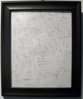 Tracey Datsi Pennell; Language Of Un Play, 2001, Original Drawing Pen, 8 x 10 inches. Artwork description: 241  automatism  ...