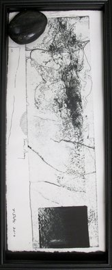 Tracey Datsi Pennell; Turn Away, 2010, Original Printmaking Monoprint, 7 x 14.2 inches.