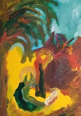 Paulo Medina; flight into egypt, 2016, Original Painting Acrylic, 30.5 x 40.6 cm. Artwork description: 241 Mt 2, 13 Cuando ya los sabios se habAan ido, un A! ngel del SeA+-or se le apareciA3 en sueA+-os a JosA(c), y le dijo A<< LevA! ntate, toma al niA+-o y a su madre, y huye a Egipto. QuA(c)date allA hasta que yo ...