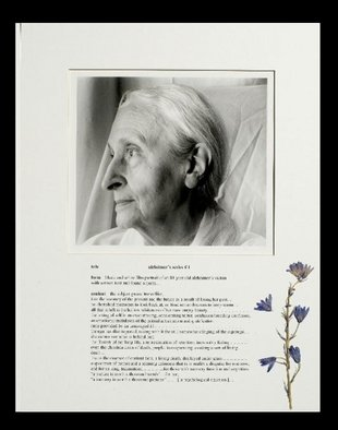 George Transcender; alzheimers series  1, 2001, Original Photography Black and White, 11 x 14 inches. Artwork description: 241  text:
