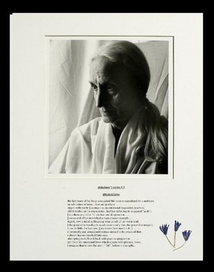 George Transcender; alzheimers series  3, 2001, Original Photography Black and White, 11 x 14 inches. Artwork description: 241    text: