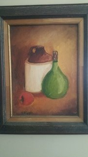 Thom Ripple; Original Still Life , 1972, Original Painting Oil, 18 x 24 inches. Artwork description: 241 Original Still life Oil on Canvas, One of the artist First painting . Artist  Thom Ripple ...