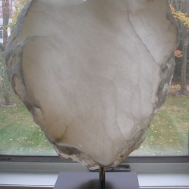 Terry Mollo, , , Original Sculpture Stone, size_width{Guarded_Heart-1306788584.jpg} X 22 inches