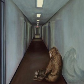 T. Smith, , , Original Painting Oil, size_width{Gorilla_Depression-1151944676.jpg} X 48 inches
