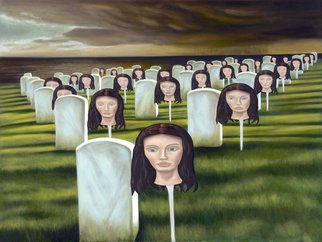 T. Smith; Tomb of the Unknown Widow, 2006, Original Painting Oil, 40 x 30 inches.