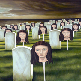 T. Smith, , , Original Painting Oil, size_width{Tomb_of_the_Unknown_Widow-1172856333.jpg} X 30 inches