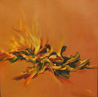 Tudor Francu; Flames, 2007, Original Painting Oil, 60 x 60 cm. Artwork description: 241  oil on canvas ...