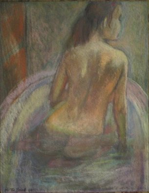 Malcolm Tuffnell; Evening Bath, 2008, Original Pastel, 9 x 12 inches. Artwork description: 241 a beauty emerges from her bath...