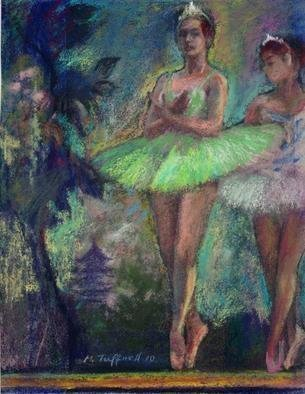 Malcolm Tuffnell; Study In Turquoise And Pi..., 2010, Original Pastel, 8.5 x 11 inches. Artwork description: 241          dance ballet romantic art 19th Century style    dance ballet romantic art 19th Century style landscape     dance ballet romantic art 19th Century style landscape   ...