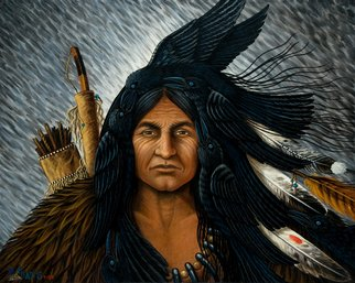 Olivia Francis; Crow Warrior, As The Crow..., 2008, Original Painting Acrylic, 20.5 x 14.3 inches. Artwork description: 241  Original Painting NFS.Only three of five Press Proofs left, signed/ numbered for $250. ea. ( including S/ H) .Also: Only 95 of 100 first limited edition prints available.hand signed and numbered, $100. ea. ( including S/ H)* ask about special order price for multiple printsGreat gifts! ...