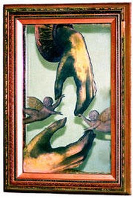 Cheryl Alagich; Within Your Reach, 2003, Original Mixed Media, 23 x 33 inches. Artwork description: 241 This piece uses a mirror as the base. This allows the viewer to become part of the artwork. The frame is antique. ...