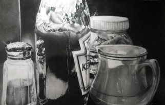 Tyrone Webber; The Condiments, 2018, Original Drawing Graphite, 11.7 x 16.5 inches.