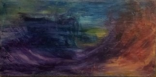 Susan Cantor-Uccelleti; Relief Against The Sky, 2016, Original Painting Oil, 30 x 15 inches. Artwork description: 241  Blue, movement, abstract, insight ...
