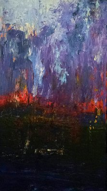 Susan Cantor-Uccelleti; Twilight, 2017, Original Painting Acrylic, 18 x 36 inches. Artwork description: 241 original artwork, on canvas, textured...