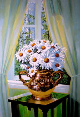 Sergey Puzirchenko, Flowers of camomile, 2011, Original Painting Oil, size_width{Flowers_of_camomile-1305713951.jpg} X 90 x  cm