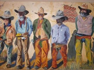 Gerard Bahon; Best of the West, 2010, Original Painting Oil, 36 x 28 inches. Artwork description: 241       Original oil painting . Some of the most feared lawmen in the Wild West .     ...