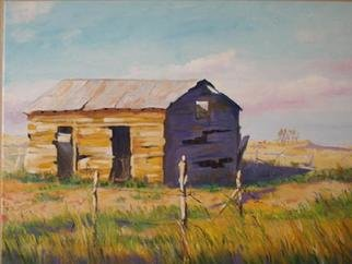 Gerard Bahon; Once Upon A Time, 2009, Original Painting Oil, 32 x 26 inches. Artwork description: 241   Original oil painting . A lonely old barn in Texas .  ...