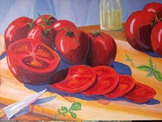 Gerard Bahon; Summer Delight, 2009, Original Painting Oil, 32 x 24 inches. Artwork description: 241        Original oil painting . Riped tomatoes ready to be eaten .     ...