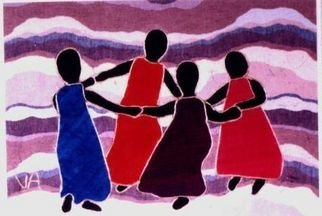 Valerie X Armstrong; Celebration, 2000, Original Reproduction, 20 x 16 inches. Artwork description: 241  Human Beings dancing with joy ...