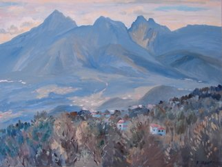 Valery Reut; Blue Mountains, 2009, Original Painting Oil, 92 x 73 cm. Artwork description: 241  Nature, mountains.   ...