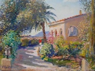 Valery Reut; Casa Ana, 2009, Original Painting Oil, 70 x 50 cm. Artwork description: 241    Nature, building, trees, garden.     ...