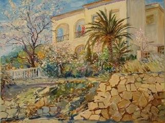 Valery Reut; Spring Garden, 2009, Original Painting Oil, 92 x 73 cm. Artwork description: 241   Nature, building, trees, garden.    ...
