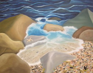 Vanessa Guimelli; Point Judith, 2006, Original Painting Oil, 24 x 36 inches.