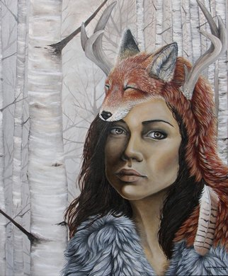 Vanessa Hughes; The Huntress, 2012, Original Painting Oil, 20 x 24 inches. Artwork description: 241   20 x 24 oil on panel, varnished       ...