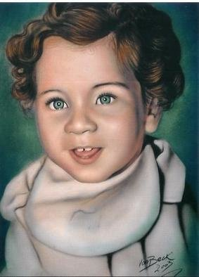 Giovan Beck; Kid, 2003, Original Painting Other, 50 x 70 cm. Artwork description: 241 Colour portrait with airbrush on paper....