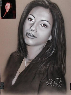 Giovan Beck; Portrait, 2002, Original Other, 50 x 70 cm. Artwork description: 241 Freehand Airbrushing on paper....