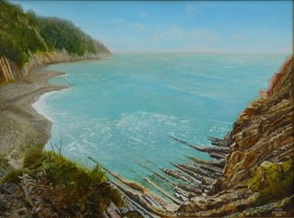 Vasily Zolottsev; At The Cadoshsky Rocks, 2011, Original Painting Oil, 80 x 60 cm. Artwork description: 241    The Black sea at Tuapse in Russia.   ...