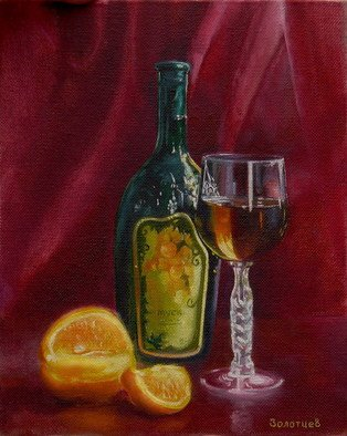Vasily Zolottsev; Cheers, 2008, Original Painting Oil, 20 x 25 cm.
