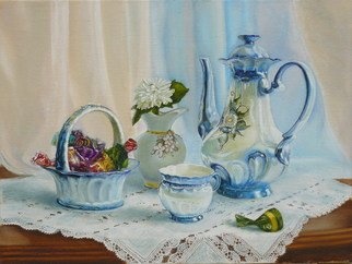Vasily Zolottsev; Good Morning My Love, 2008, Original Painting Oil, 40 x 30 cm.