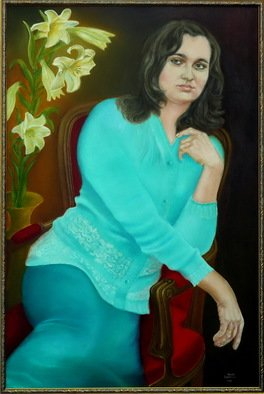 Vasily Zolottsev; Nadezhda, 2014, Original Painting Oil, 60 x 80 cm. Artwork description: 241  Woman  ...